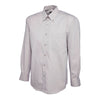 Uneek UC701 Mens Pinpoint Oxford Full Sleeve Shirt Silver Grey