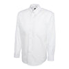 Uneek UC701 Mens Pinpoint Oxford Full Sleeve Shirt White