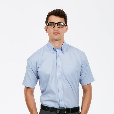 Uneek UC702 Mens Pinpoint Oxford Half Sleeve Shirt