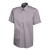Uneek UC702 Mens Pinpoint Oxford Half Sleeve Shirt Charcoal