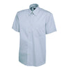 Uneek UC702 Mens Pinpoint Oxford Half Sleeve Shirt Light Blue