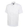 Uneek UC702 Mens Pinpoint Oxford Half Sleeve Shirt White
