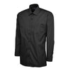 Uneek UC709 Mens Poplin Full Sleeve Shirt Black