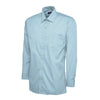 Uneek UC709 Mens Poplin Full Sleeve Shirt Light Blue