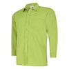 Uneek UC709 Mens Poplin Full Sleeve Shirt Lime
