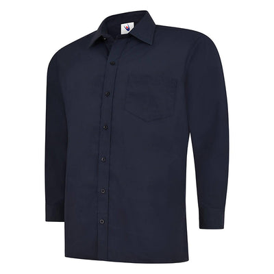 Uneek UC709 Mens Poplin Full Sleeve Shirt Navy
