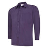 Uneek UC709 Mens Poplin Full Sleeve Shirt Purple