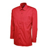 Uneek UC709 Mens Poplin Full Sleeve Shirt Red