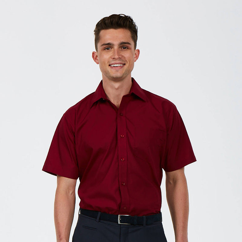 Uneek UC710 Mens Poplin Half Sleeve Shirt