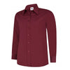 Uneek UC711 Ladies Poplin Full Sleeve Shirt Burgundy