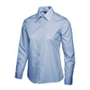Uneek UC711 Ladies Poplin Full Sleeve Shirt Light Blue
