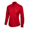 Uneek UC711 Ladies Poplin Full Sleeve Shirt Red