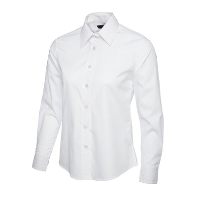 Uneek UC711 Ladies Poplin Full Sleeve Shirt White