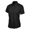 Uneek UC712 Ladies Poplin Half Sleeve Shirt Black