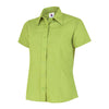 Uneek UC712 Ladies Poplin Half Sleeve Shirt Lime