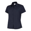 Uneek UC712 Ladies Poplin Half Sleeve Shirt Navy