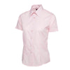 Uneek UC712 Ladies Poplin Half Sleeve Shirt Pink