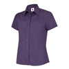 Uneek UC712 Ladies Poplin Half Sleeve Shirt Purple