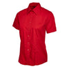 Uneek UC712 Ladies Poplin Half Sleeve Shirt Red