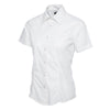 Uneek UC712 Ladies Poplin Half Sleeve Shirt White