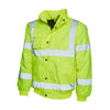 Uneek UC804 High Visibility Bomber Jacket Hi-Vis Yellow