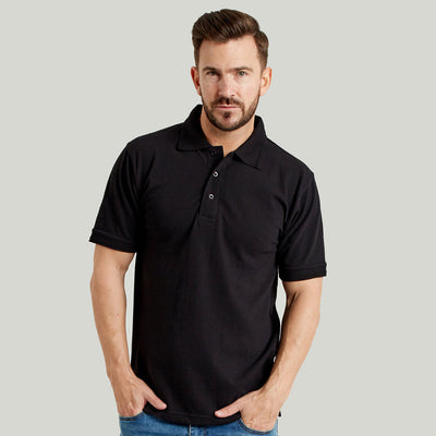 Ultimate 50/50 Heavyweight Pique Mens Work Polo Shirt Black
