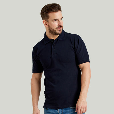 Ultimate 50/50 Heavyweight Pique Mens Work Polo Shirt Navy