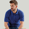 Ultimate 50/50 Heavyweight Pique Mens Work Polo Shirt Royal Blue