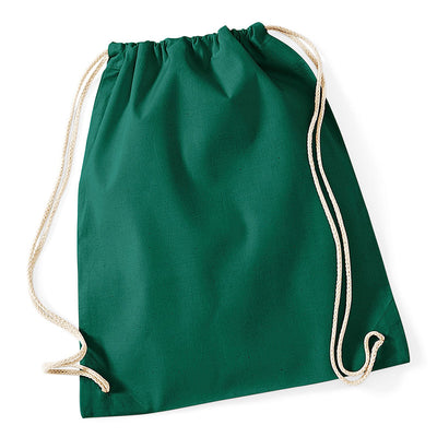 Westford Mill W110 Cotton Gymsac Bottle Green