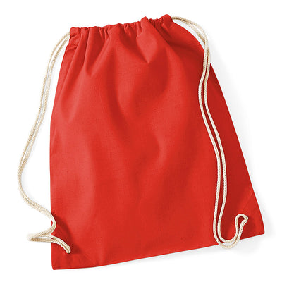 Westford Mill W110 Cotton Gymsac Bright Red