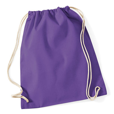 Westford Mill W110 Cotton Gymsac Purple