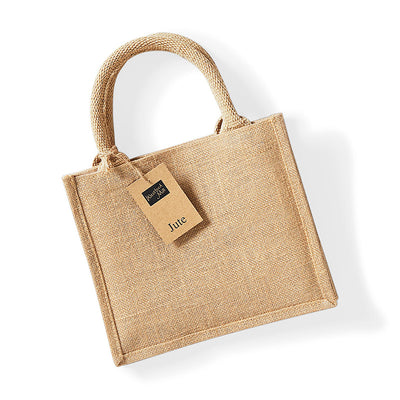 Westford Mill W412 Jute Mini Gift Bag Natural