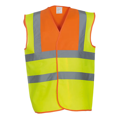 Yoko Hi Vis Vest Work Wear Waistcoat Jacket Hi-Vis Orange / Hi-Vis Yellow
