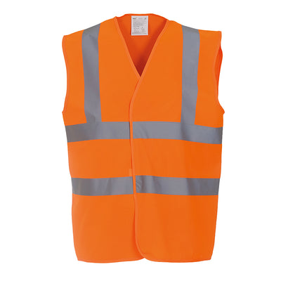 Yoko Hi Vis Vest Work Wear Waistcoat Jacket Hi-Vis Orange