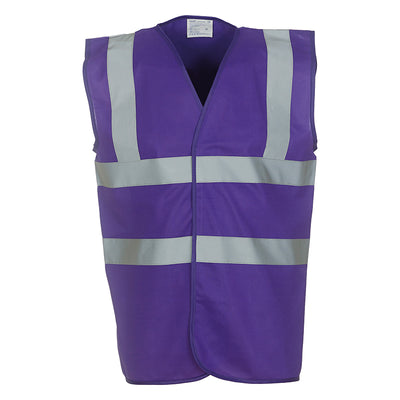 Yoko Hi Vis Vest Work Wear Waistcoat Jacket Purple