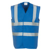 Yoko Hi Vis Vest Work Wear Waistcoat Jacket Royal Blue