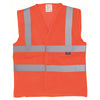 Yoko Hi Vis Open Mesh Waistcoat Breathable Lightweight Vest Hi-Vis Orange