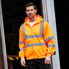 Yoko Hi-Vis Zipped Soft Feel Jersey Hoodie Hi-Vis Orange