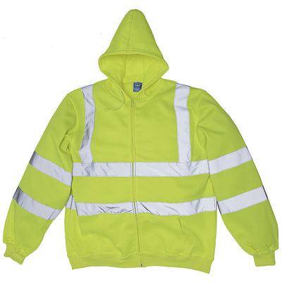 Yoko Hi-Vis Zipped Soft Feel Jersey Hoodie