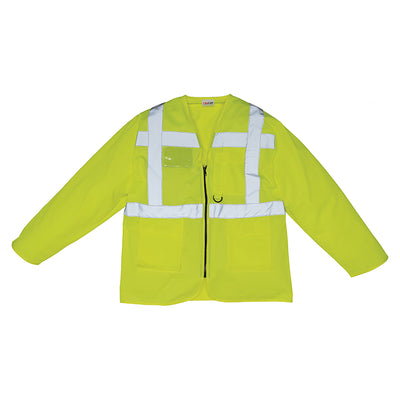 Yoko Hi Vis Executive Long Sleeve Zip Up Waistcoat Vest