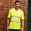 Yoko Hi Vis Top Super Cool Breathable V-Neck T-Shirt