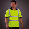 Yoko Hi-Vis Short Sleeve Polo Shirt Contrast Collar Hi-Vis Yellow