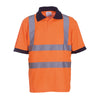 Yoko Hi-Vis Short Sleeve Polo Shirt Contrast Collar