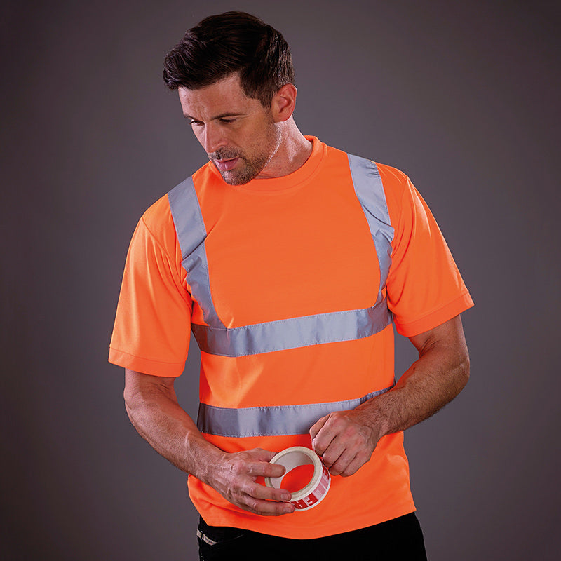 Yoko Hi-Vis Short Sleeve Safety T-Shirt Hi-Vis Orange / S