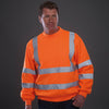 Yoko Hi Vis Fluorescent Sweatshirt Jumper Hi-Vis Orange