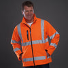 Yoko Hi Vis Softshell Jacket Premium Waterproof Coat Hi-Vis Orange