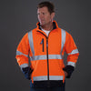 Yoko Hi Vis Softshell Jacket Premium Waterproof Coat Hi-Vis Orange / Navy