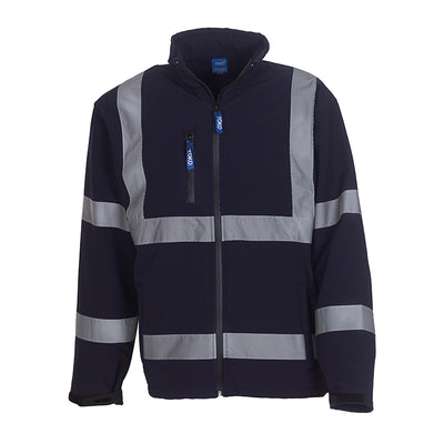 Yoko Hi Vis Softshell Jacket Premium Waterproof Coat