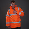 Yoko Hi Vis Waterproof Quilted Lined Road Safety Jacket Hi-Vis Orange