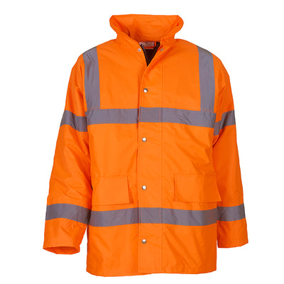 Yoko Hi Vis Waterproof Quilted Lined Road Safety Jacket